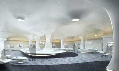 郑州国际物流园电商总部 一楼展厅与楼顶规划