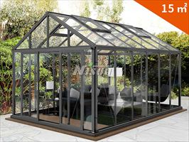 绿森铝材玻璃阳光房 户外休闲屋