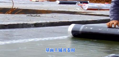 中国制造厂家耐根穿刺反应粘结型高分子湿铺防水卷材