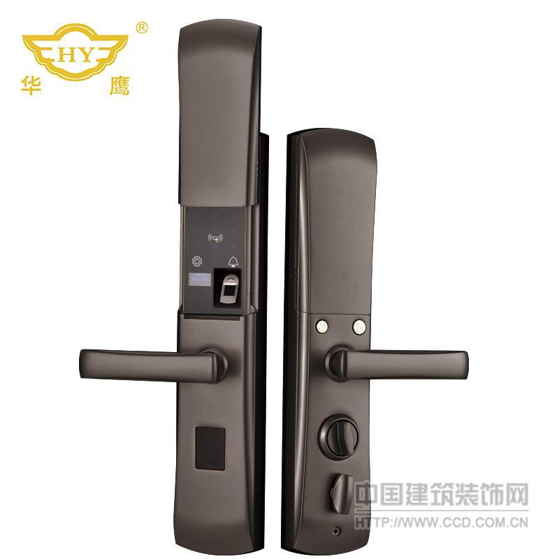 HY007华鹰半导体家用防盗门全自动智能指纹锁厂家批发