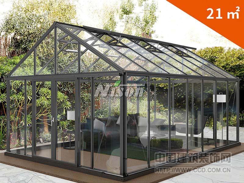 北欧风设计阳光房 庭园花房 活动房屋 隔音玻璃房