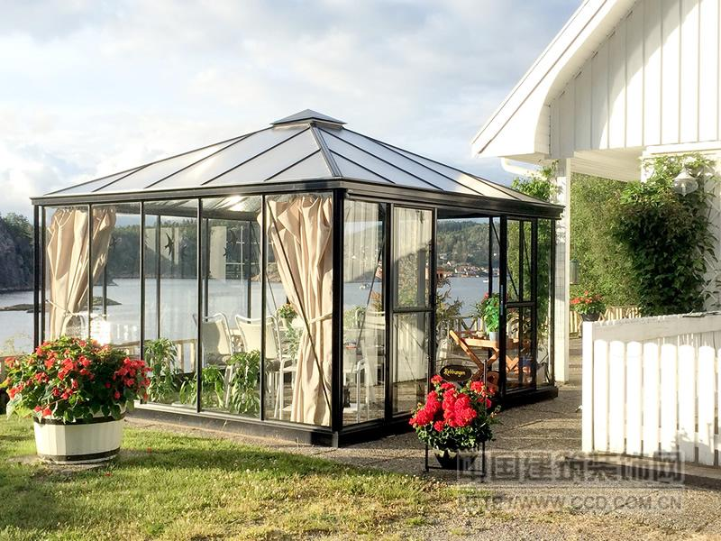 绿森多用途阳光房 豪华温室 活动玻璃花房 休闲屋