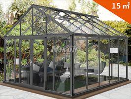 绿森铝材玻璃阳光房 移动样板房 温室花房