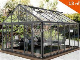 绿森铝材户外休闲屋 别墅花房 透明玻璃温室