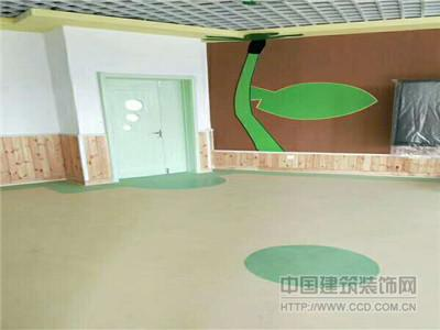 PVC地板 环保地材 弹性地板胶