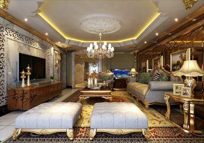 远洋公馆260平欧式风格半包12万