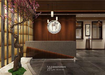 郑州禅茶一味中式茶楼装修设计效果图