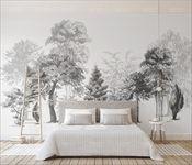 大型壁画墙纸无缝定制个性新中式电视背景墙