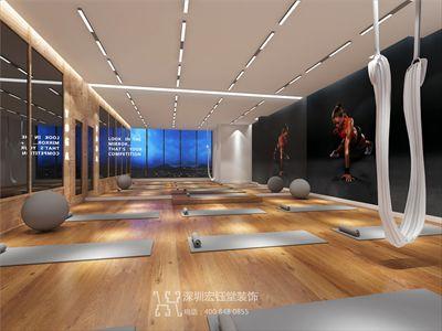 郑州中奥时尚健身房装修设计案例效果图