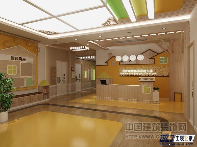 本案是西安的幼儿园设计作品,7张设计效果图,包括幼儿园室内外装饰