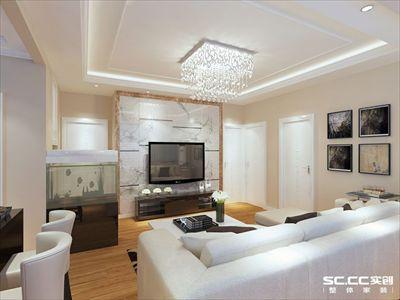 现代简约风格装修,两居室89平6.4万