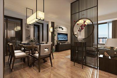 凤凰文化广场 三室两厅 100平 新中式