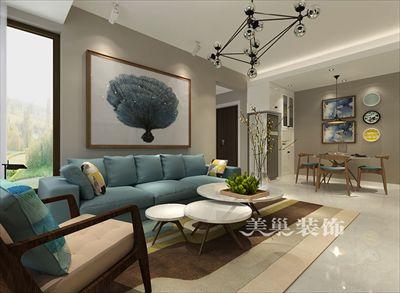 郑州永威城装修效果图-90平小三房餐厅卡座设计