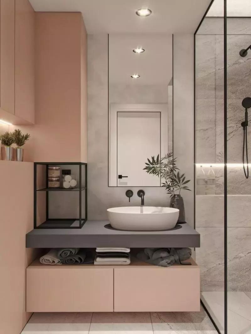 浴缸 玻璃 半隔断设计   如果卫生间的面积不大又想弄个浴缸,可以