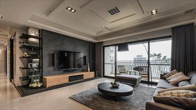 【东恒世嘉装饰】现代客厅装修效果图