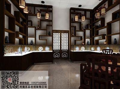 郑州古董店装修公司,字画店装修设计