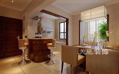 郑州威龙中心城97平三室装修简约风开放式厨房设计