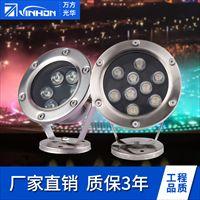 LED水底灯12v 户外景观水底灯 24V水底灯6W单色
