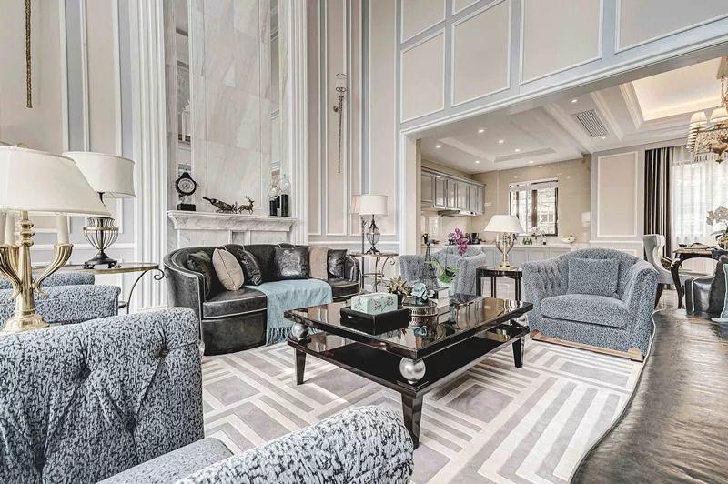 方案设计风格为现代法式风格,整个空间划分包含了地上3层和一个地下室图片
