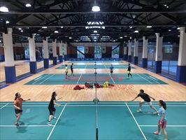 东兴运动木地板,羽毛球馆木地板安装施工