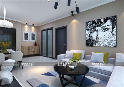 玉祥明居94平现代风格半包3.5万