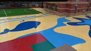 室外奥利奥地板 PVC塑胶运动地板 室内外塑胶地板
