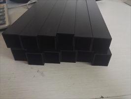 氧化黑色铝方管 6063氧化银白色铝方管