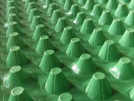 绿色苏州聚乙烯3公分车库种植排水板