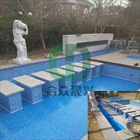 安装防水胶膜  戏水乐园 景观池改造 方法