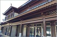 聚合陶材料仿中式建筑(仿木)