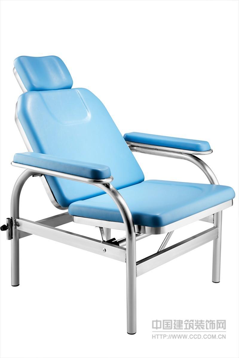 不锈钢可躺输液椅 可躺PU发泡输液椅