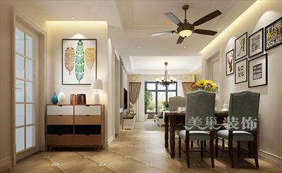 美巢郑州绿都紫荆华庭81平两室两厅装修案例-现代隔断设计方案