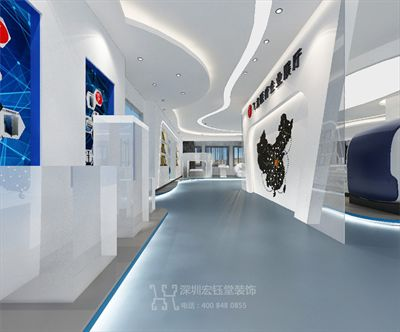 郑州飞龙医疗设备展厅装修设计方案