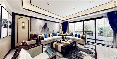 重庆爱宅装饰 天晋小区195㎡新中式风格
