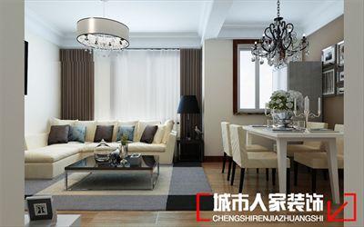 ?咸阳装修—珠泉新城82平米简约风格案例