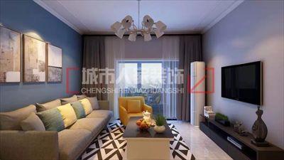 光明城小区两室两厅装修设计效果图