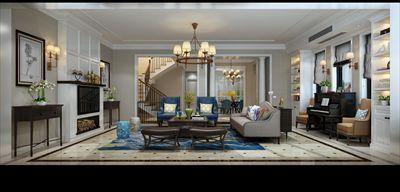 同城世家450平方别墅装修设计|混搭风格