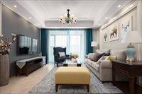 紫金华府110平方三居室装修设计|简美风
