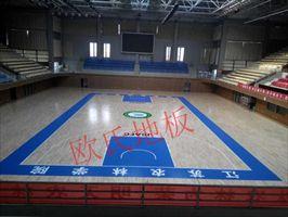 浙江德清县专业篮球木地板 运动木地板安装
