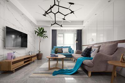 莉湖春晓北苑110平方装修设计|现代风格