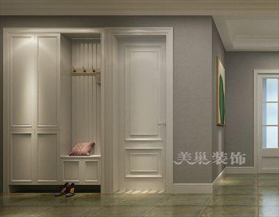 郑州华瑞紫韵城装修效果图-复古混搭风三室真个性