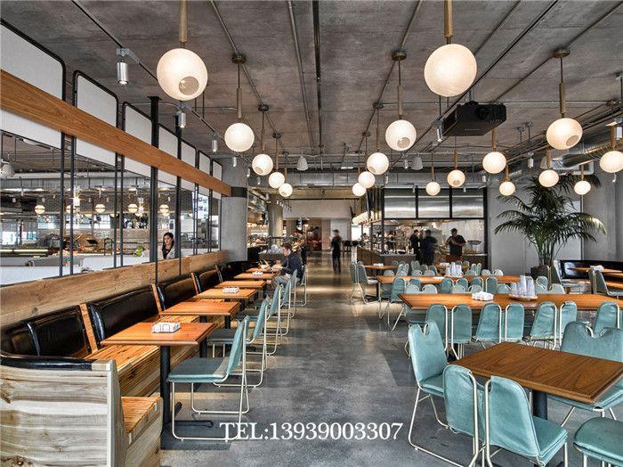 郑州餐厅设计公司奇光推荐时尚员工食堂餐厅设计案例