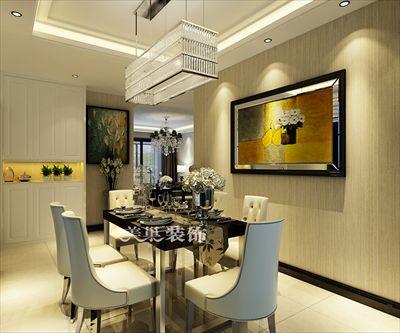 郑州正商智慧城后现代黑白灰装修样板间-128平三室户型