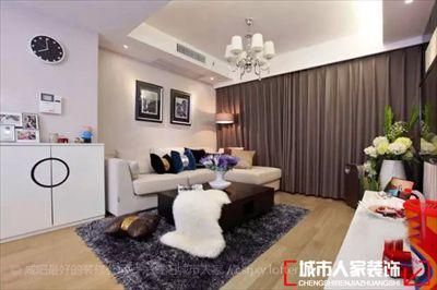 咸阳城市人家装饰现代两室房子精彩装修案例