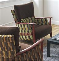 供应日本进口山月沙发布软包布椅子张 UP-8011