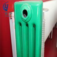 低碳钢管钢四柱暖气片 钢制工程水暖散热器