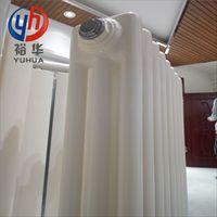 钢三柱方头家用暖气片 弧管三柱式钢制散热器