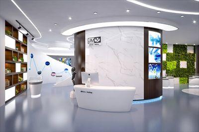 2019上海新办公室前台装修设计案例