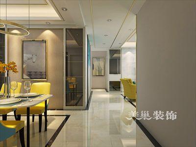 郑州永威西郡现代轻奢风装修140平三居室设计方案