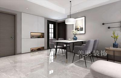 郑州康桥知园129平三室两厅装修案例-现代黑白灰正流行